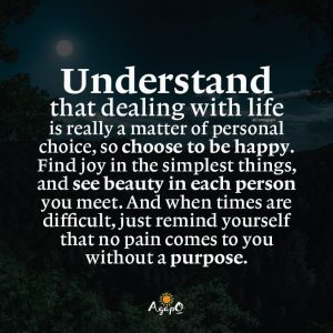 Understand dealing with life